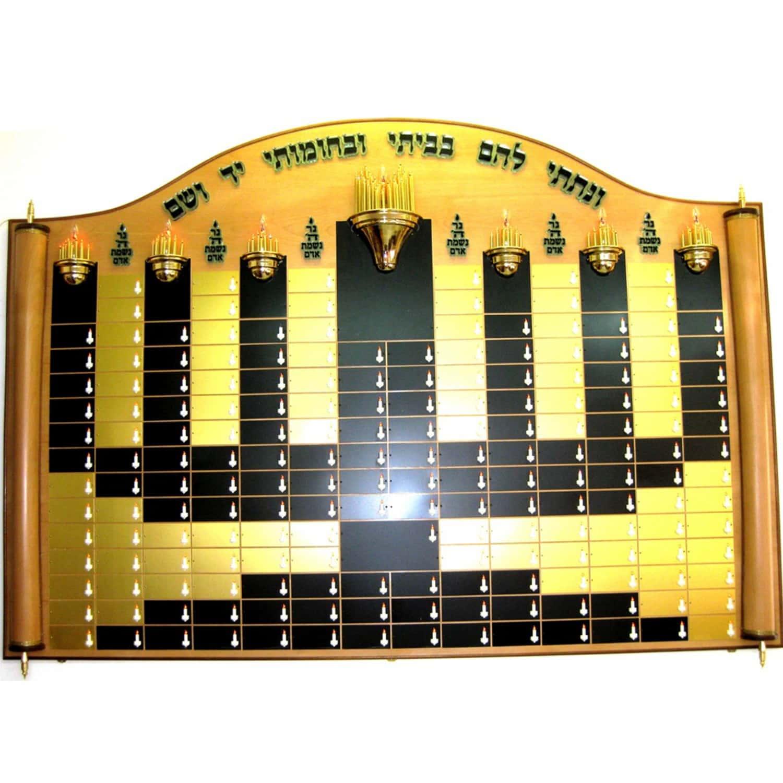 Menorah-shaped memorial displays