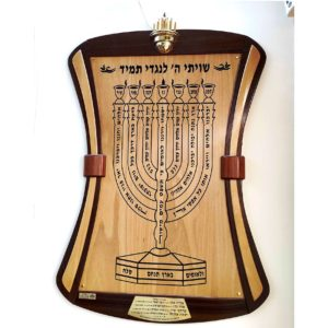 לוחות תפילה בשילוב עץ