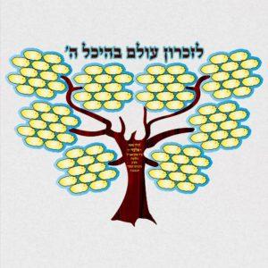 לוחות זיכרון והנצחה, עצי חיים